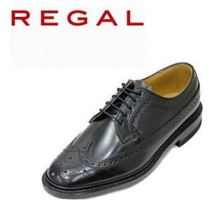 ビジネスシューズ リーガル REGAL ウイングチップ 2589N 黒EE 本革紳士靴|rhythm-shoes