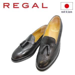 ビジネスシューズ リーガル REGAL キルトタッセル JE03AH黒 3E 紳士靴|rhythm-shoes