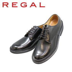 ビジネスシューズ メンズ リーガル REGAL プレーントゥー JU13AG 黒 本革紳士靴|rhythm-shoes
