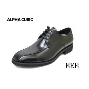 ビジネスシューズ  メンズ アルファキュービック 221黒3E 靴  ALPHA CUBIC 本革ビジネス|rhythm-shoes