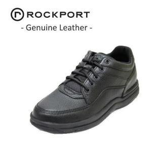 ウォーキングシューズ メンズ ロックポート ワールドツアークラッシック 黒 本革靴|rhythm-shoes