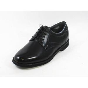 ビジネスシューズ メンズ 本革 軽量 ハッシュパピーM106黒4E幅広 紳士靴 通勤靴 プレーントゥー|rhythm-shoes