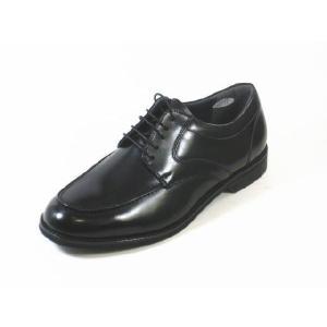 ビジネスシューズ メンズ 本革 軽量 ハッシュパピーM107黒4E幅広  紳士靴 通勤靴 ユーチップ|rhythm-shoes