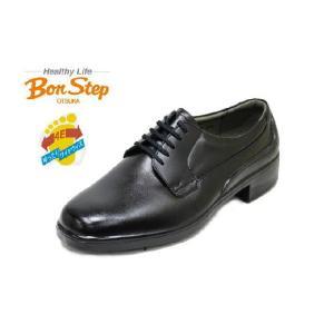 ビジネスシューズ メンズ ボンステップ 2207黒 4E 本革 幅広靴 防水 BONSTEP rhythm-shoes