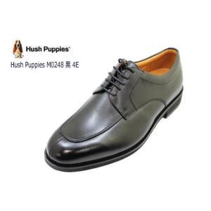 ビジネスシューズ メンズ ハッシュパピー M248NA黒4E 本革 幅広4E ユーチップシューズ|rhythm-shoes