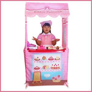 ままごとキッズテントのケーキ屋さん リボンパティスリー カウンターテーブルセット お店屋さんごっこ ままごとキッチン|ribbon-m