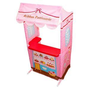 ままごとキッズテントのケーキ屋さん リボンパティスリー カウンターテーブルセット お店屋さんごっこ ままごとキッチン|ribbon-m|03