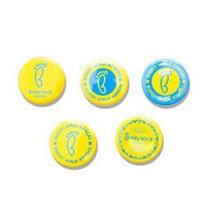 バディウォーク関西 チャリティー缶バッジ 5種類セット バッヂ バッチ 青色 ダウン症 ブルー&イエロー|ribbon-shop