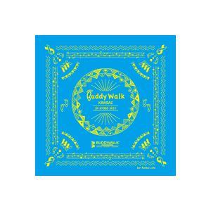 バディウォーク関西 チャリティーバンダナ 青色 ダウン症 ブルー&イエロー|ribbon-shop