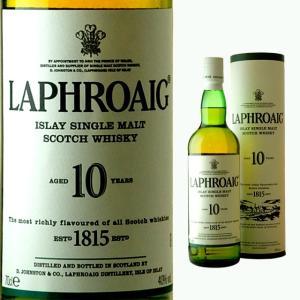 円筒 ラフロイグ 10年 40度 700ml  ウイスキー モルト スコッチ あすつく ラフロイグ1...