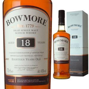 箱入 ボウモア 18年 43度 700ml ウイスキー モルト スコッチ あすつく アイラ モルト アイラモルト シングルモルトウイスキー ricaoh