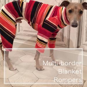 着る毛布 マルチボーダーブランケットロンパース(イタリアング...