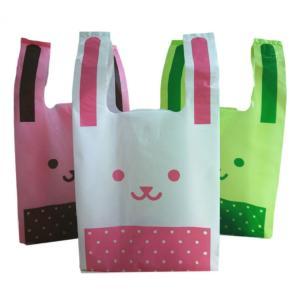 うさぎ ポリ袋 3色 150枚 セット Sサイズ レジ袋 ゴミ袋 販促 包装 業務用 ラッピング