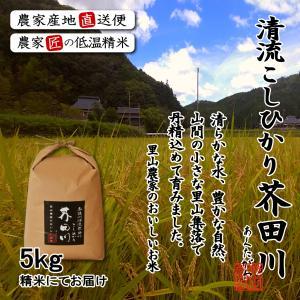 新米(平成29年度)産地直送にて「奥播州源流芥田川こしひかり...
