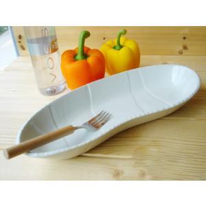 和食器 クリームお料理オーバルトレー (楕円) 32cm おうち カフェ 食器 陶 器 長皿|ricebowl
