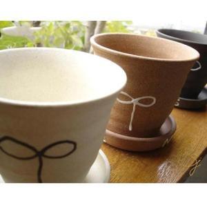 HappySet 3個セット ガーデンプランター 茶 白 黒 栽培/ガーデニング/ハーブ/園芸/植木鉢/陶器 ricebowl