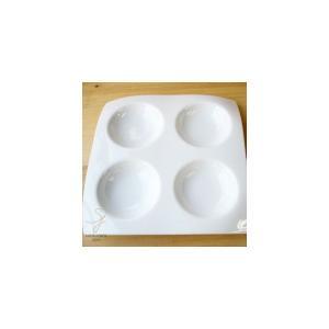 白い器の4ピースカプリッチョ|ricebowl