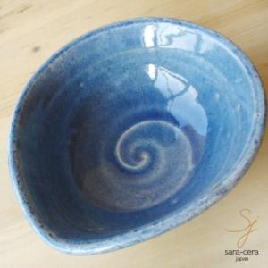 和食器 松助窯 オーバルボール 藍染ブルー|ricebowl