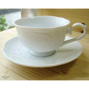 ホワイトヨーロピアンバロック カップソーサー|ricebowl