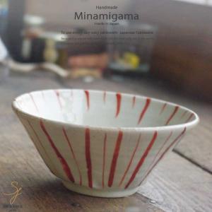 坂の上のあったか家族工房 南窯  赤絵十草 茶漬け碗 小丼ぶり|ricebowl