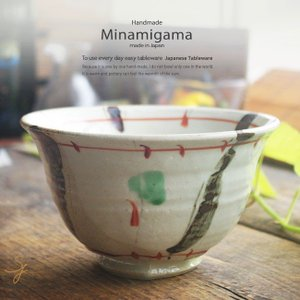 南窯 赤絵鉄絵 楽描 深どんぶり 坂の上のあったか家族工房 和食器 おうち カフェ 食器 陶器ライスボール うつわ ごはん|ricebowl