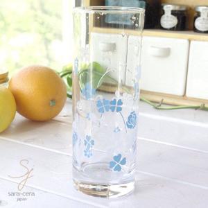 6個セット スパークリングゾンビタンブラー ブルーローズ 360cc ガラス|ricebowl