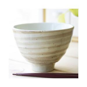 クリーム茶釉スパイラル ちょこっとたっぷり ご飯茶碗 小どんぶり|ricebowl