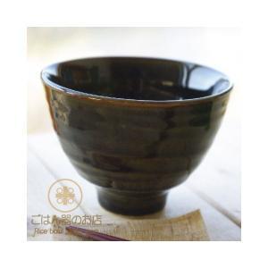 織部グリーン釉 すっきり 茶漬け碗 小どんぶり 緑 ricebowl