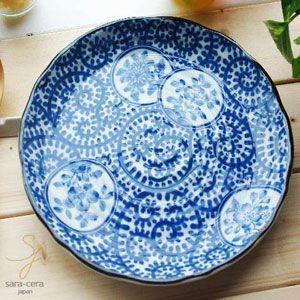 花紋 藍染付蛸唐草 お料理皿 ランチプレート|ricebowl