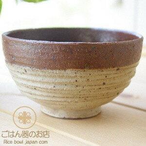 松助窯 赤土黄色粉引 粗削り 手押しろくろ目ご飯茶碗|ricebowl