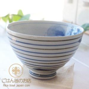 有田焼 波佐見焼 染付け 駒筋ぶどう 特大ご飯茶碗 茶漬け碗 青|ricebowl
