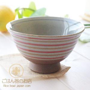 有田焼 波佐見焼 錆駒筋 ご飯茶碗 赤 (小)|ricebowl
