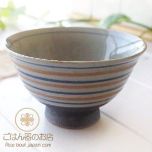 有田焼 波佐見焼 錆駒筋 ご飯茶碗 青 (大)|ricebowl