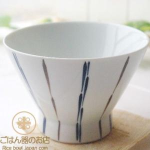 有田焼 波佐見焼 くらわんか碗 二色十草 ストライプ ご飯茶碗 ライスボール 和食器 ricebowl