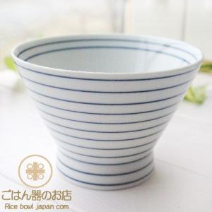 有田焼 波佐見焼 くらわんか碗 駒筋ボーダーライン ご飯茶碗 ライスボール 和食器|ricebowl