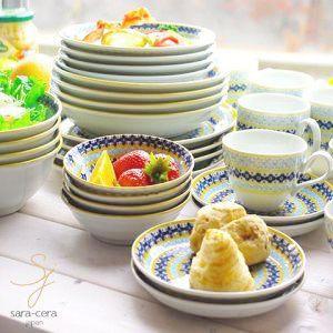 食器セット 美しいボレスワヴィエツの街 24ピースセット メリーイエローフローレット 福袋 家族のHaapbox ※同梱不可 (2017年,送料無料)|ricebowl