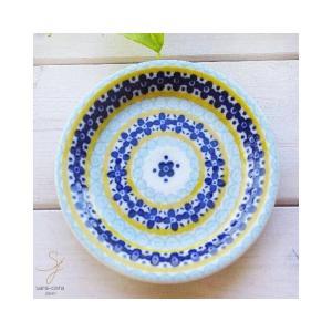美しいボレスワヴィエツの街 メリーイエローフローレット プチディッシュ 小皿 12cm (ポタリー風,ポタリーフィールド)|ricebowl