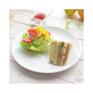 鮮やかな白い食器 Vivid white ビビットホワイト 前菜デザートケーキプレート 中皿 20.4cm