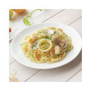 鮮やかな白い食器 Vivid white ビビットホワイト パスタランチプレート 中皿 23.3cm