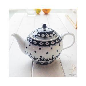 美しいボレスワヴィエツの街 リーフドット ティーポット ポタリーフィールド,北欧 , 紅茶 ティーポット おしゃれ,ギフト|ricebowl