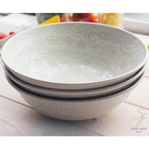 サラダボウル3枚セット ラッキーオールジャパンエンボス ラーメン麺鉢 煮物鉢 サラダボール 中鉢 和皿 和風 食器セット|ricebowl