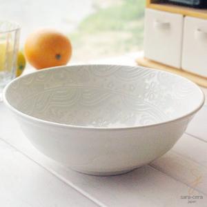 サラダボウル ラッキーオールジャパンエンボス 麺鉢 煮物鉢 サラダボール 中鉢(※単品) 和食器 和皿 和風|ricebowl
