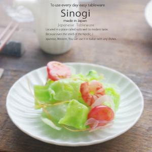 和食器 しのぎ 白い食器 白磁 14.5cm 丸皿 うつわ 日本製 おうち 十草 ストライプ|ricebowl