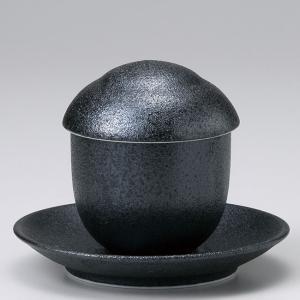 和食器 フタをあけてふわぁーっと 銀鱗ぎんりん 茶碗蒸し 受皿セット スープ 陶器 うつわ ごはん おうち おしゃれ スープポット 汁碗 デザート ricebowl