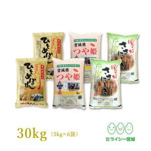 新米 米 30kg 安い 品目食べ比べ 29年産 小分け 宮...