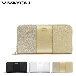 ビバユー VIVAYOU 長財布 5208611 メタリカパース  ラウンドファスナー 財布 パスケース付 レディース  [PO5]|richard