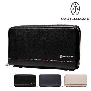 カステルバジャック 長財布 ラウンドファスナー 持ち手付き アーチ メンズ  74211 CASTELBAJAC   スマートクラッチ マルチケース 大容量 牛革 本革 レザー richard