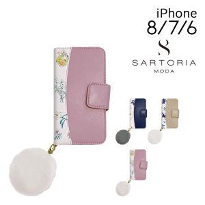 サルトリア スマホケース 手帳型 iPhone8 iPhone7 iPhone6 レディース DESM-BKI7S SARTORIA MODA | スマホカバー 花柄|richard