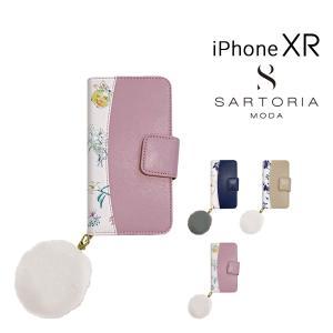 サルトリア スマホケース 手帳型 iPhone XR レディース DESM-BKI9 SARTORIA MODA | スマホカバー 花柄|richard