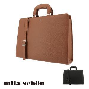 ミラショーン ブリーフケース メンズ ネロ 197517 Mila Schon ビジネスバッグ 本革 レザー [PO10] richard